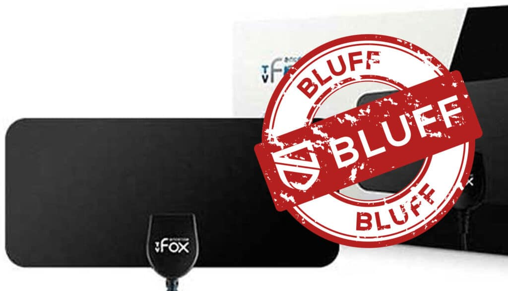 TV Fox-antennen med bluffstämpel