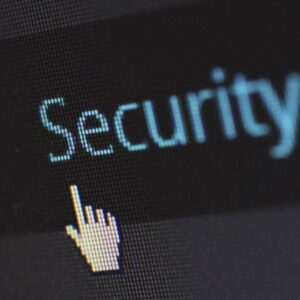 Musmarkör som klickar på Security