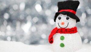 Snögubbe i snö