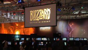Blizzards logotyp på LAN-party