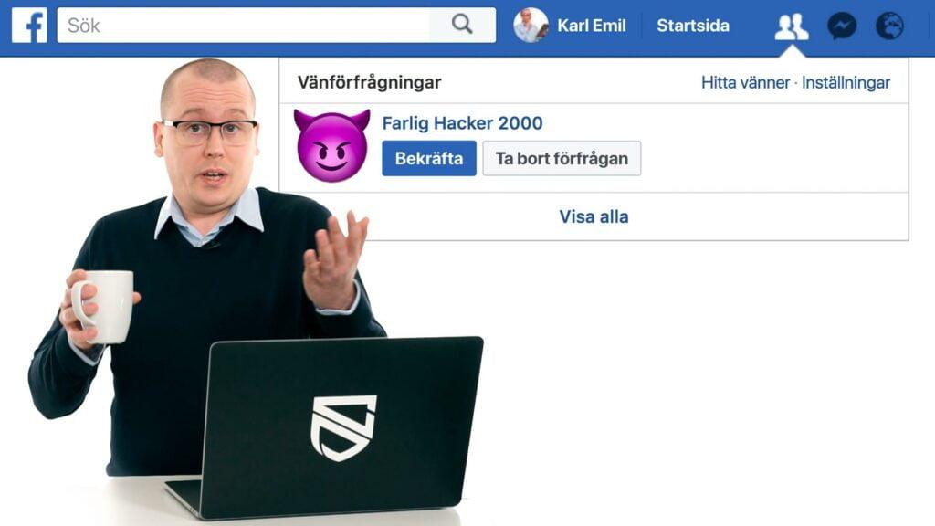 Falsk vänförfrågan på Facebook