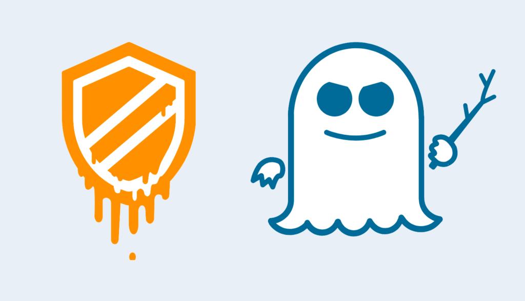 Meltdown- och Spectre-logotyperna