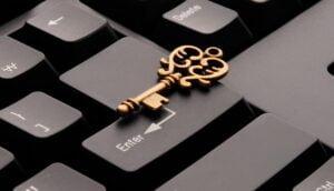 Nyckel på tangentbord