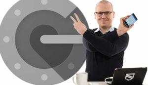 Nikka framför Google Authenticator
