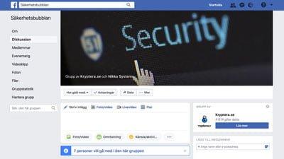 Säkerhetsbubblan på Facebook