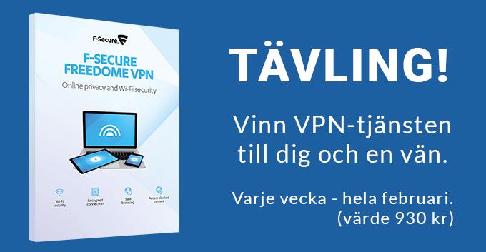 Vinn VPN-tjänsten F-secure Freedome