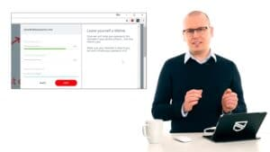 Karl Emil Nikka visar lösenordshanterare