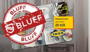 Blufftävling för Ikea-presentkort