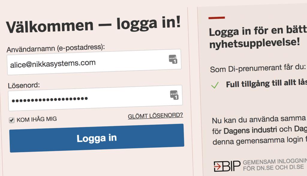 Automatisk ifyllnad på webbsida