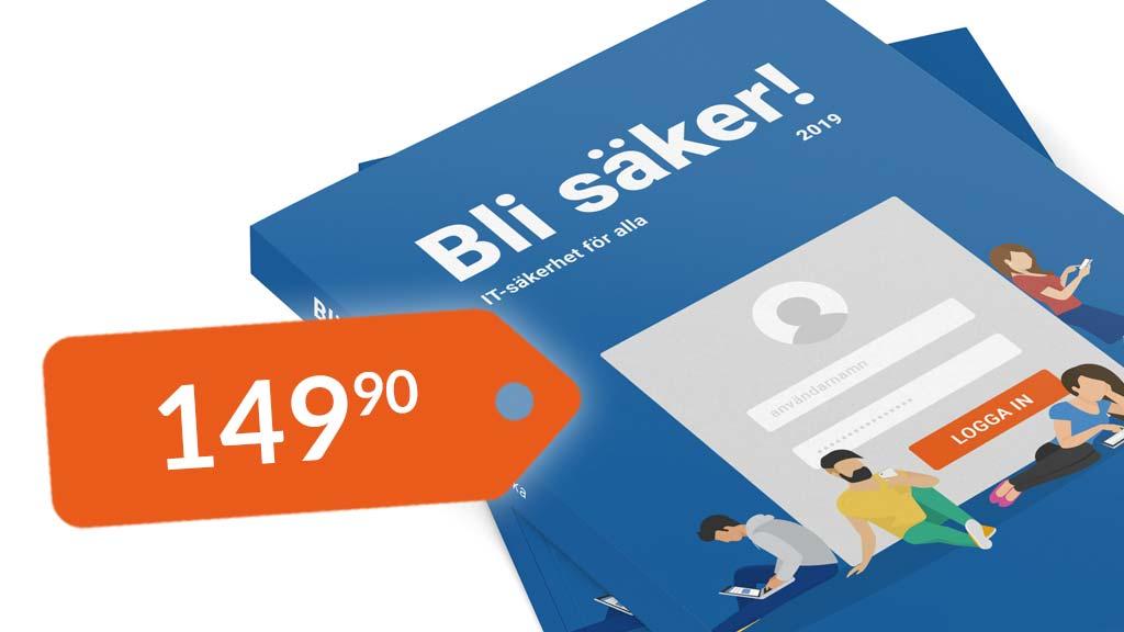 Bli säker-boken för 149,90 kr.