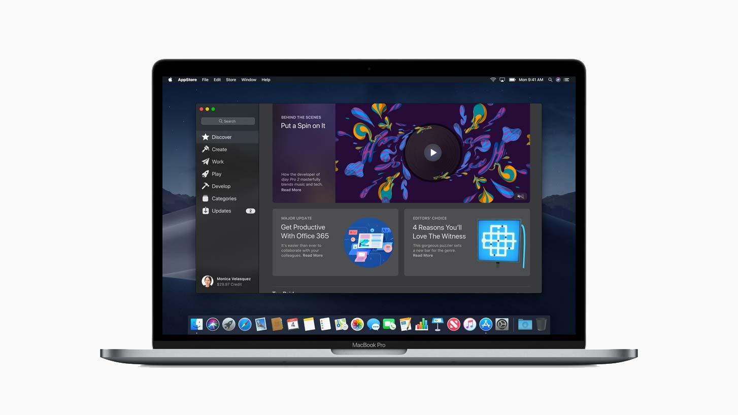 App Store i Mac OS 10.14 (Mojave) på Macbook