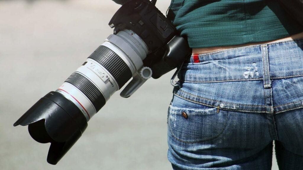 Kamera med teleobjektiv