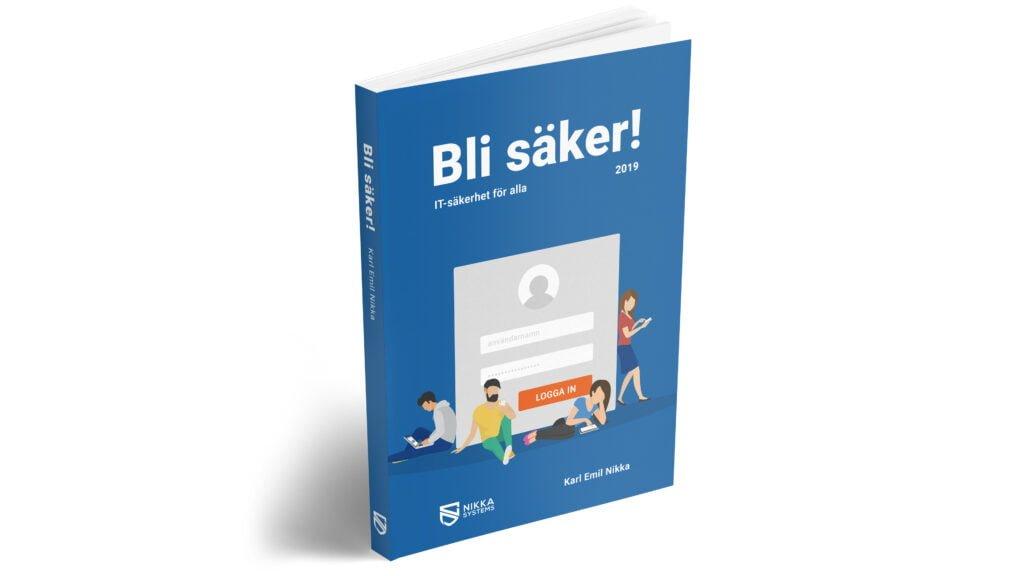 Bli säker-boken ståendes