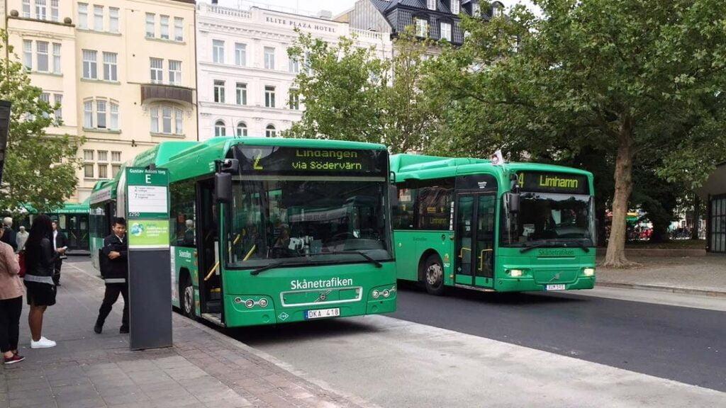 Skånetrafikens bussar i Malmö