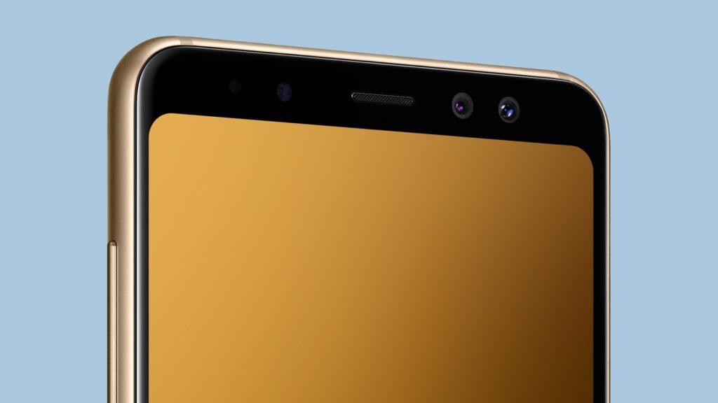 Galaxy A8 (en av mobilerna som kan luras).