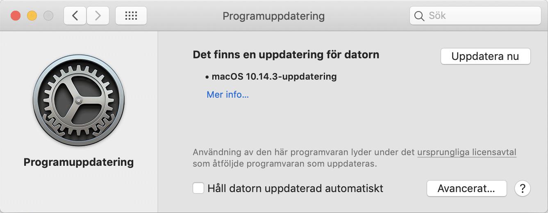 Mac OS 10.14.3 är nu tillgänglig.