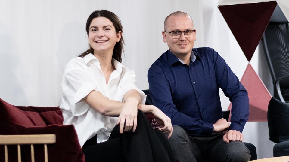 Karl Emil Nikka och Tess Hamark