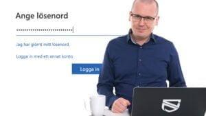 Karl Emil Nikka suckar över dåliga lösenord.
