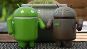 Två Android-maskotar