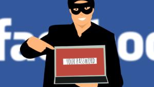 Facebook ber om lösenord.