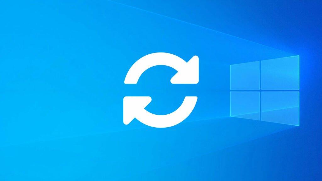 Uppdateringsikon på Windows-bakgrund