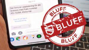 Exempel på falskt SMS