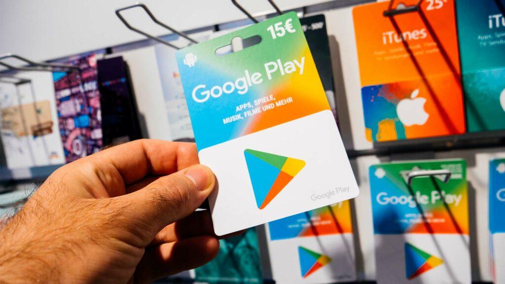 Presentkort till Google Play