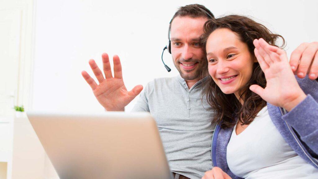 Par som använder Skype