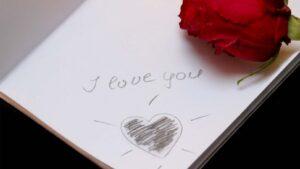 Kärleksbrev med ros