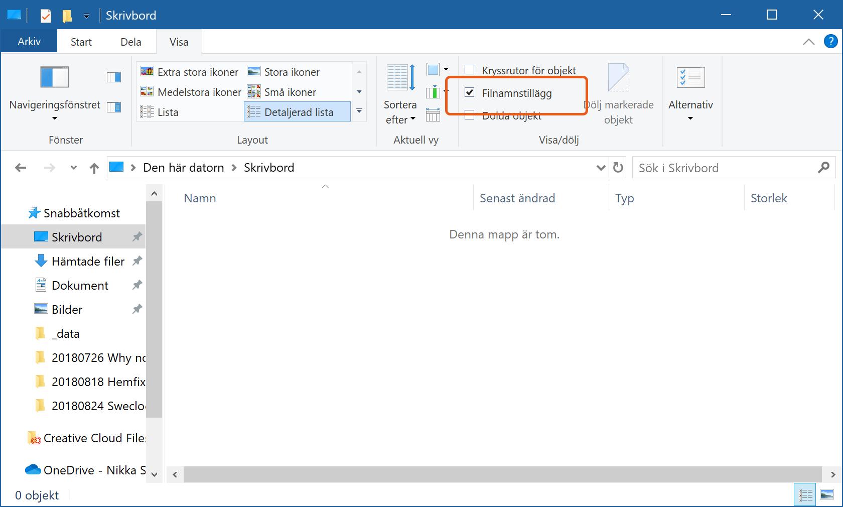 Utforskaren i Windows 10