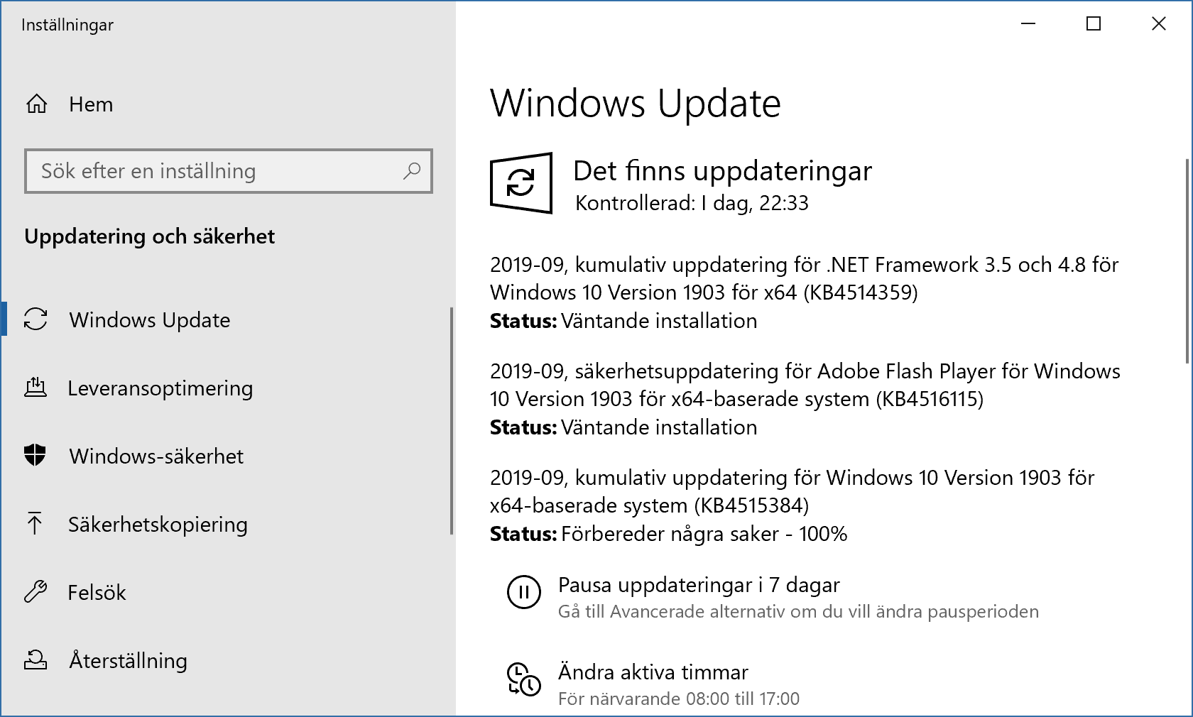 Windows septemberuppdateringar 2019