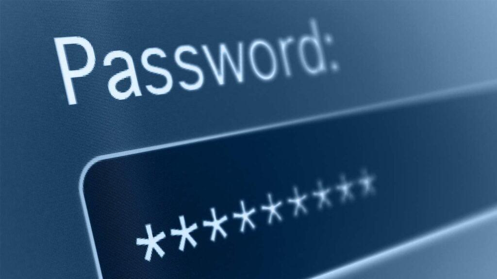Lösenordsfält på datorskärm