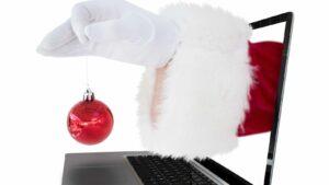 Jultome sträcker sig genom datorskärm