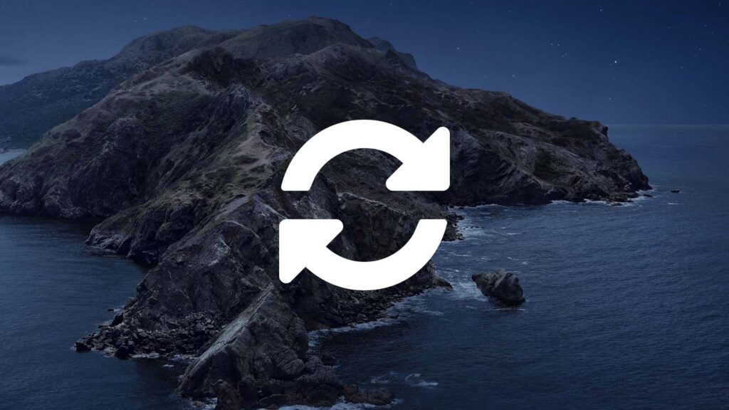 Mac OS Catalinas bakgrundsbild