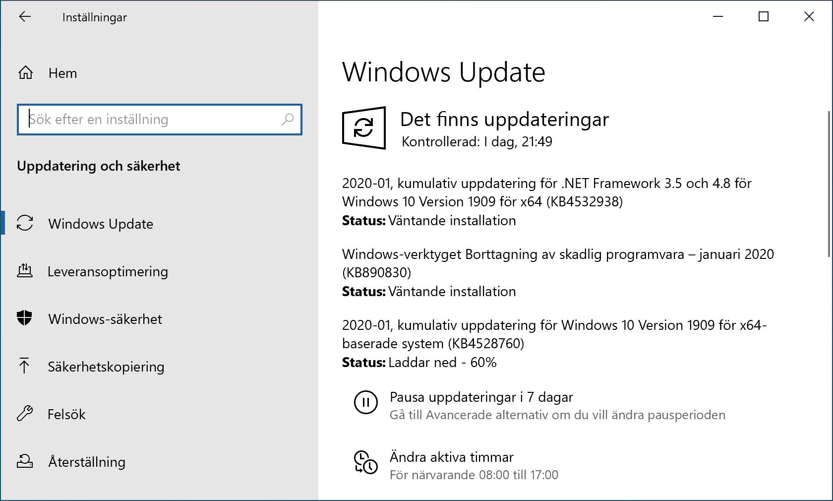 Windows Update installerar januaris säkerhetsuppdateringar.