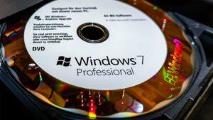 Windows 7-skiva i DVD-läsare