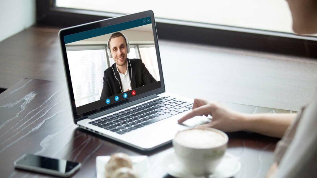 Videokonferens på Skype