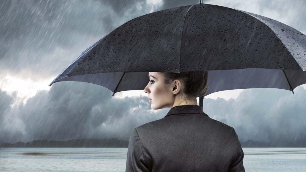 Affärskvinna under paraply (Umbrella)