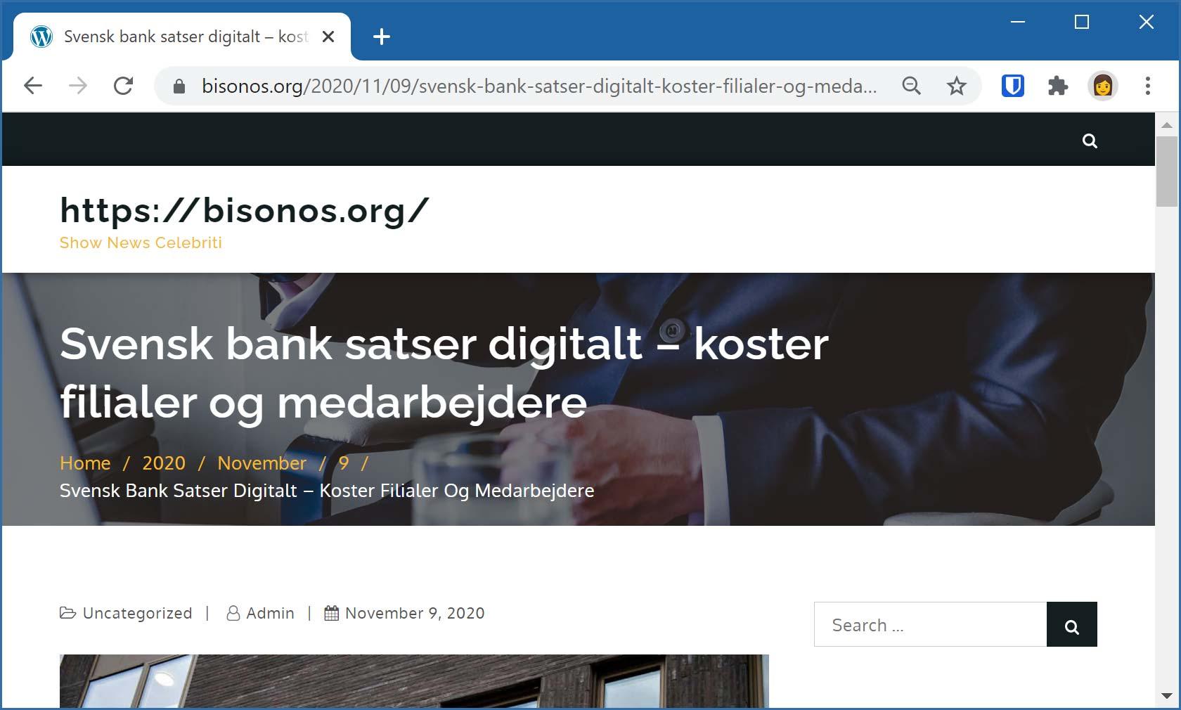 Artikel om att svensk bank satsar digitalt på bekostnad av filialer och medarbetare.
