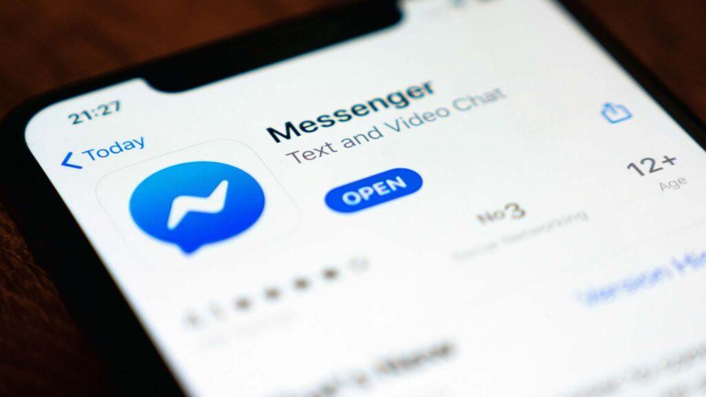 Facebook Messenger på Iphone X.
