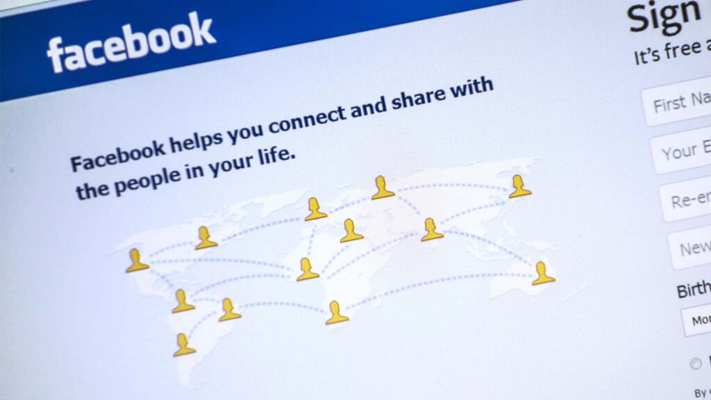 Facebooks välkomstsida