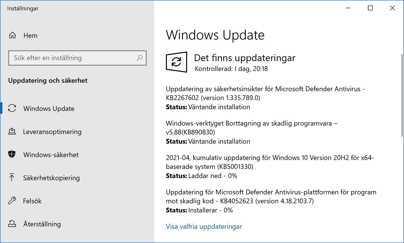Windows 10 installerar aprils säkerhetsuppdateringar.