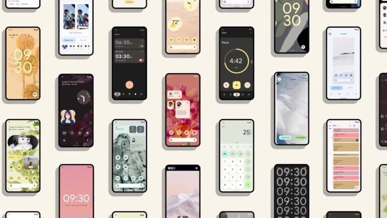 Mobiler med Android 12