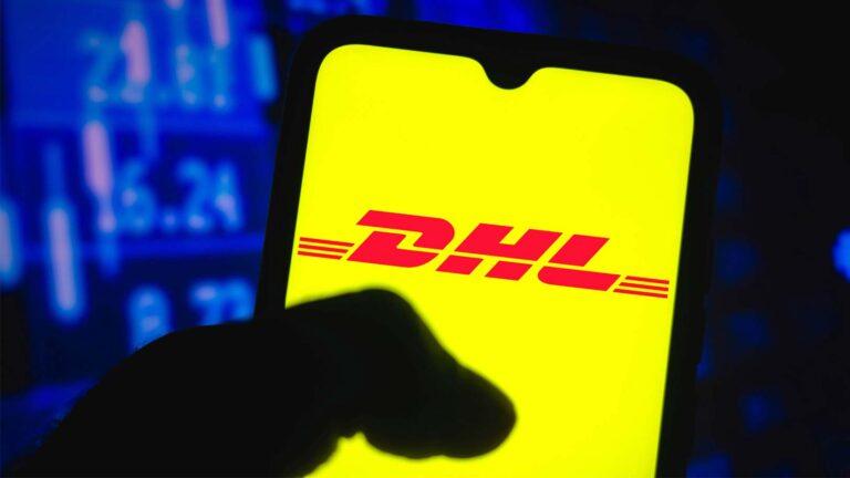 DHL-appen på Android-mobil