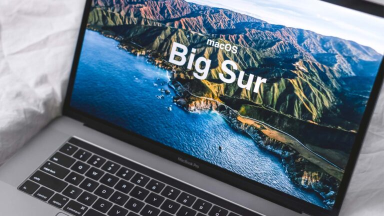 Macbook med Mac OS Big Sur