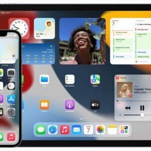 Iphone med IOS 15 och Ipad med Ipad OS 15