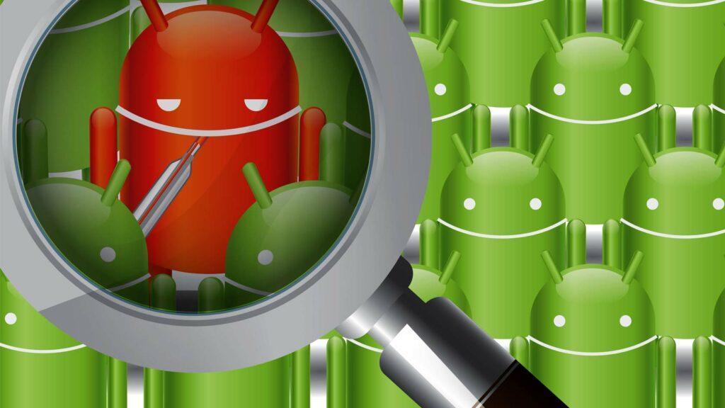 En sjuk Android-figur.