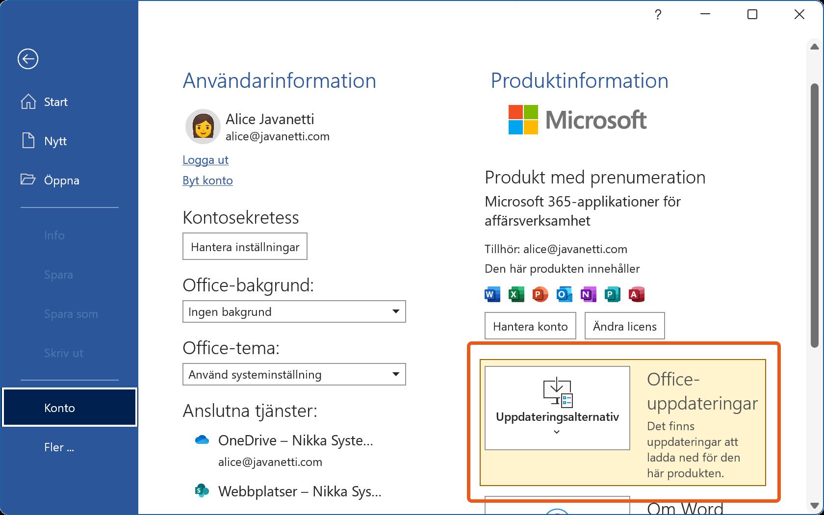 Säkerhetsuppdateringar i Microsoft Word väntar på att bli installerade.